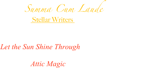 Summa Cum Laude  Award to
